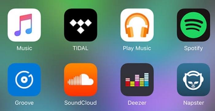 Streaming Musical Apple Music Spotify Tidal Deezer
