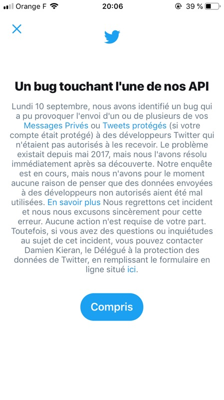 Twitter Bug API Access Messages Prives