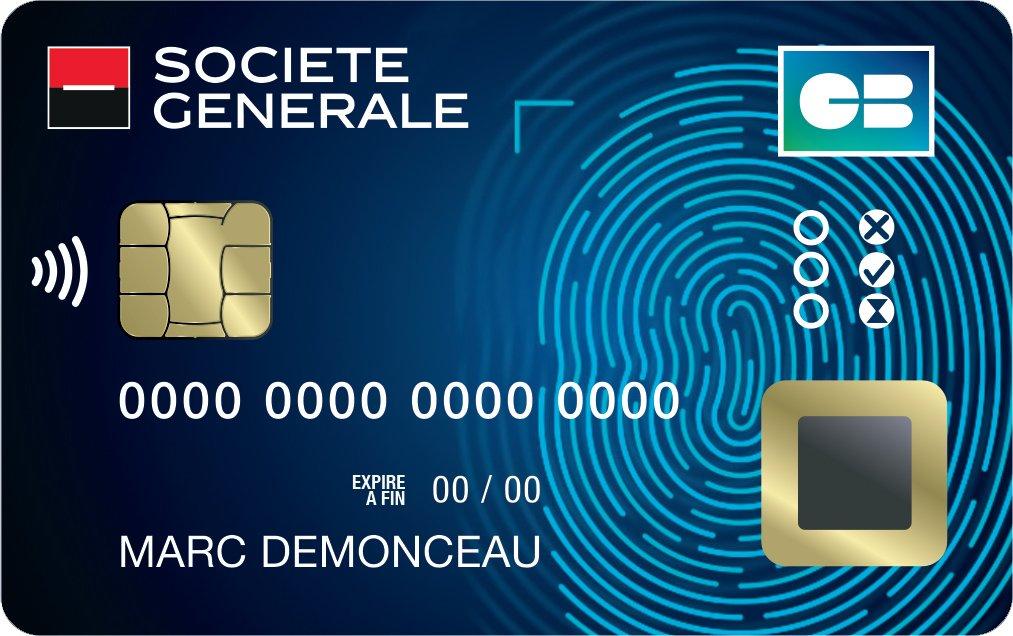 Carte Bancaire Capteur Empreintes Societe Generale