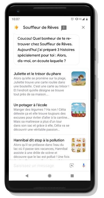 Google Assistant Rubrique Enfants Et Famille