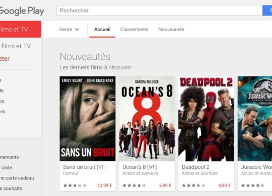 Google Films et Series