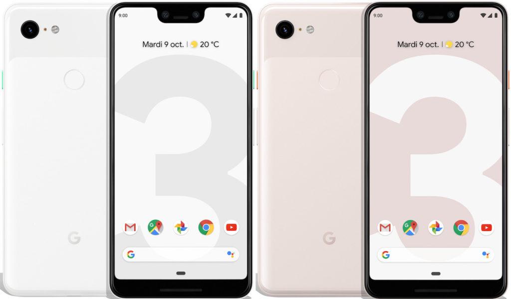 Google Pixel 3 XL Officiel Avant Arriere 1024x601