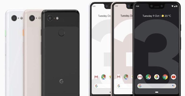 Google Pixel 3 vs Pixel 3 XL Officiel Avant Arriere
