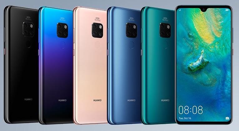 Huawei Mate 20 Officiel Avant Arriere