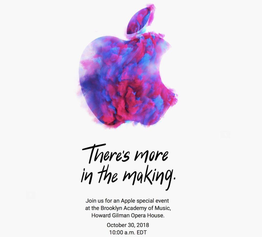 Invitation Keynote Apple 30 Octobre 2018 1024x926