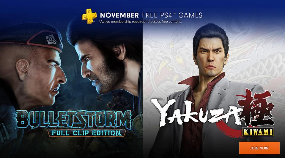 Jeux PlayStation Plus PS4 Novembre 2018