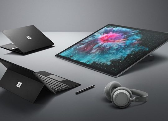 Microsoft Surface Pro 6 Surface Laptop 2 Surface Studio 2 et Casque