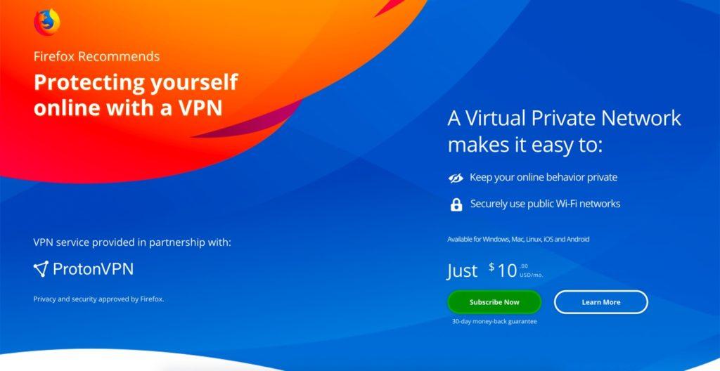 Mozilla VPN ProtonVPN 1024x528