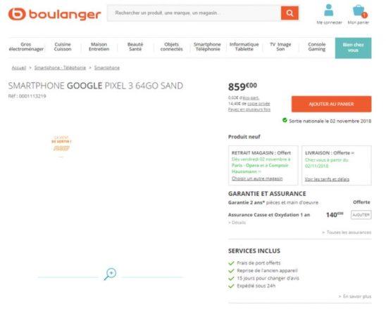 Pixel 3 Boulanger 548x450
