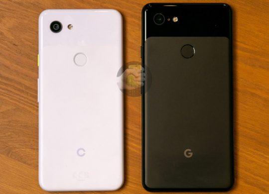 Fuite Pixel 3 Lite vs Pixel 3 XL Arriere