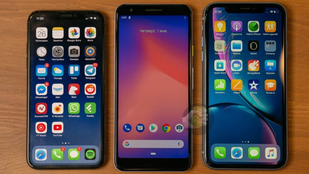 Fuite IPhone XS Vs Pixel 3 Lite Vs IPhone XR 1024x576