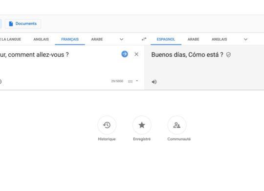 Google Traduction Nouveau Design Novembre 2018
