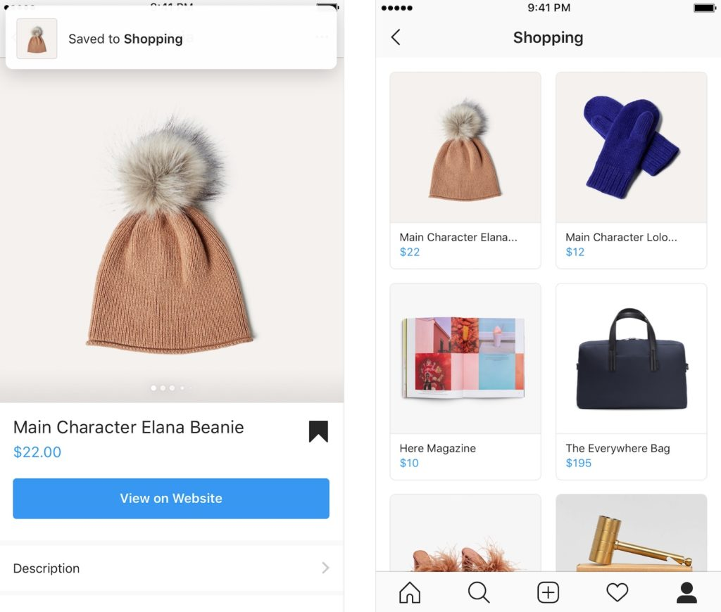 Instagram Shopping Collection 1024x870