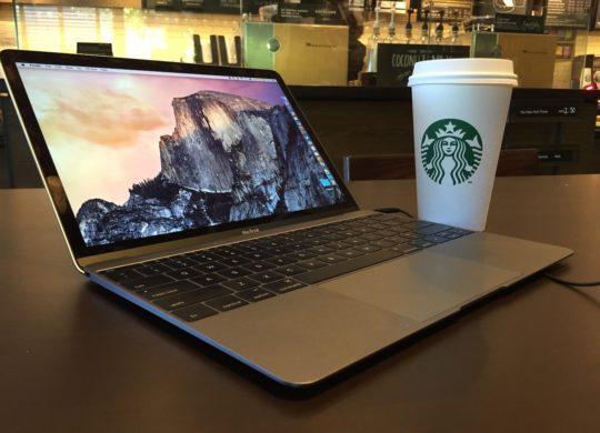 MacBook Starbucks