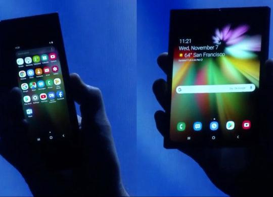 Samsung Smartphone Pliable Ouvert Ferme