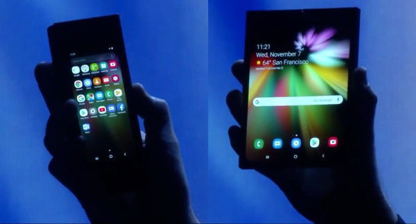 Samsung Smartphone Pliable Ouvert Ferme 600x323