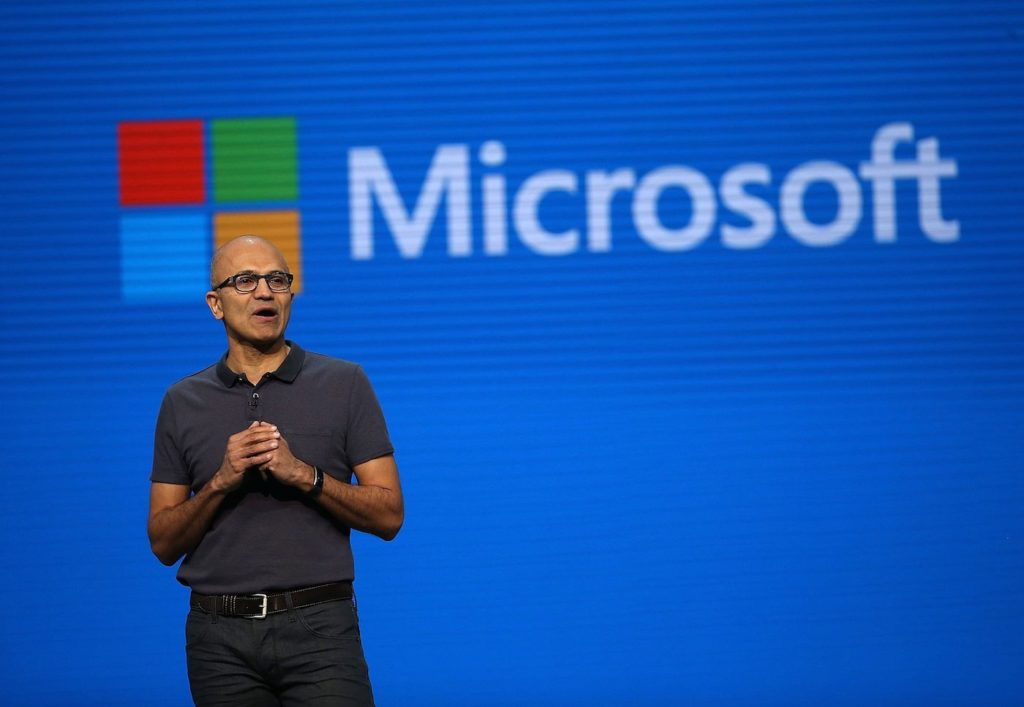 Satya Nadella Logo Microsoft 1024x707