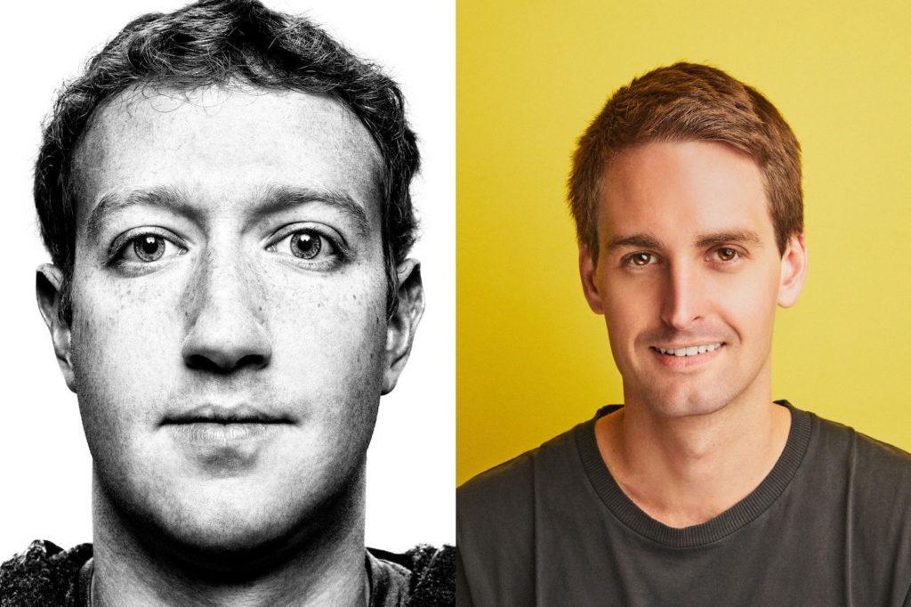 Mark Zuckerberg Evan Spiegel 1024x682