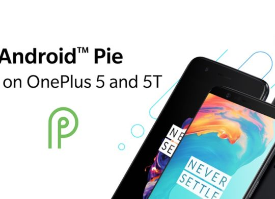 OnePlus 5 5T Android Pie