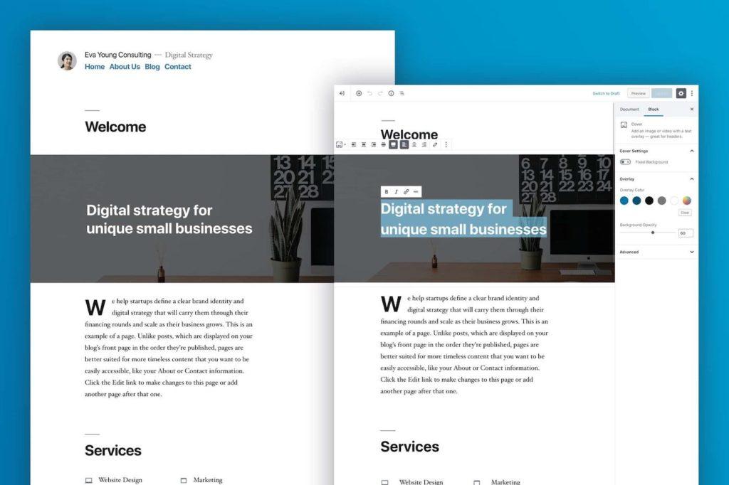 WordPress 5.0 Theme Twenty Nineteen 1024x682