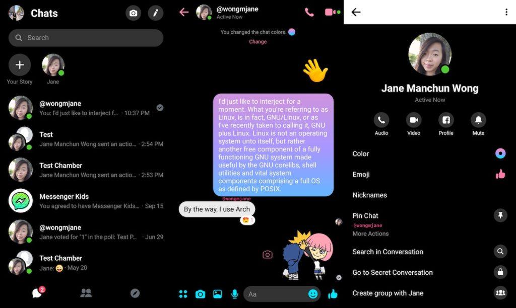 Facebook Messenger Mode Sombre Experimentation 1024x612