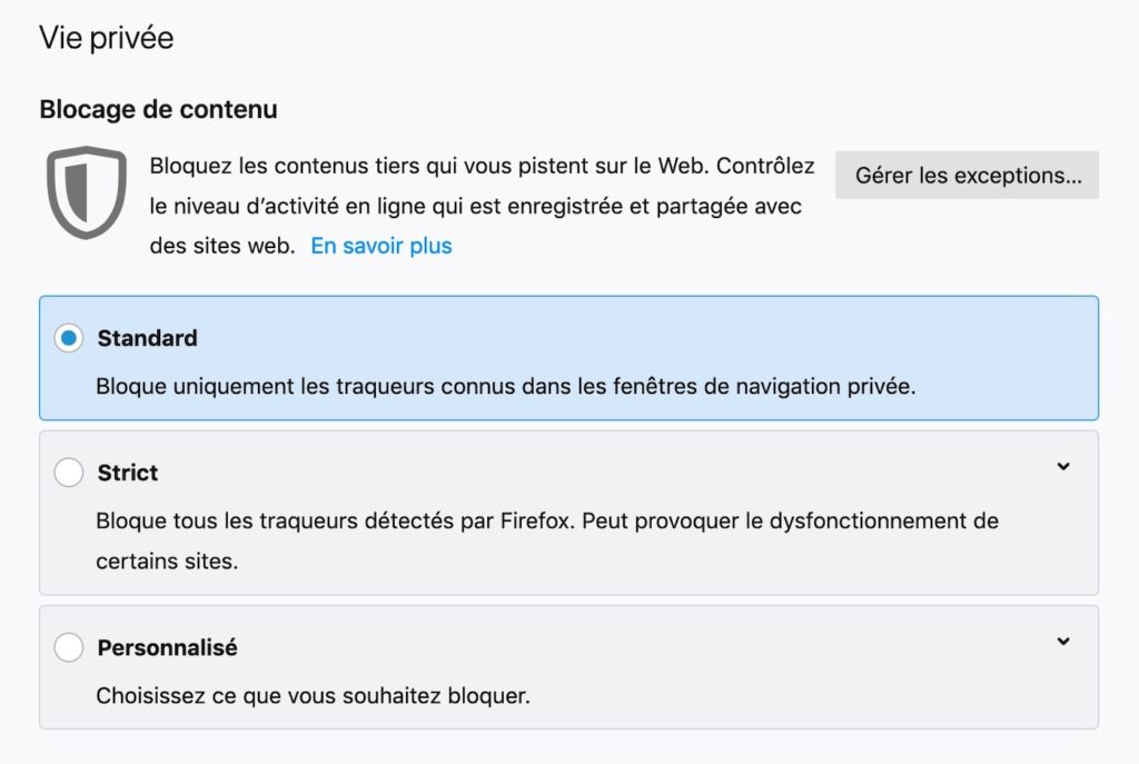 Firefox 65 Reglages Blocage Contenu 1024x687
