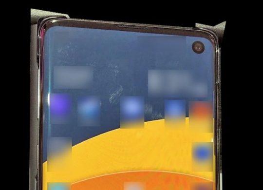 Fuite Galaxy S10 Avant Recadre