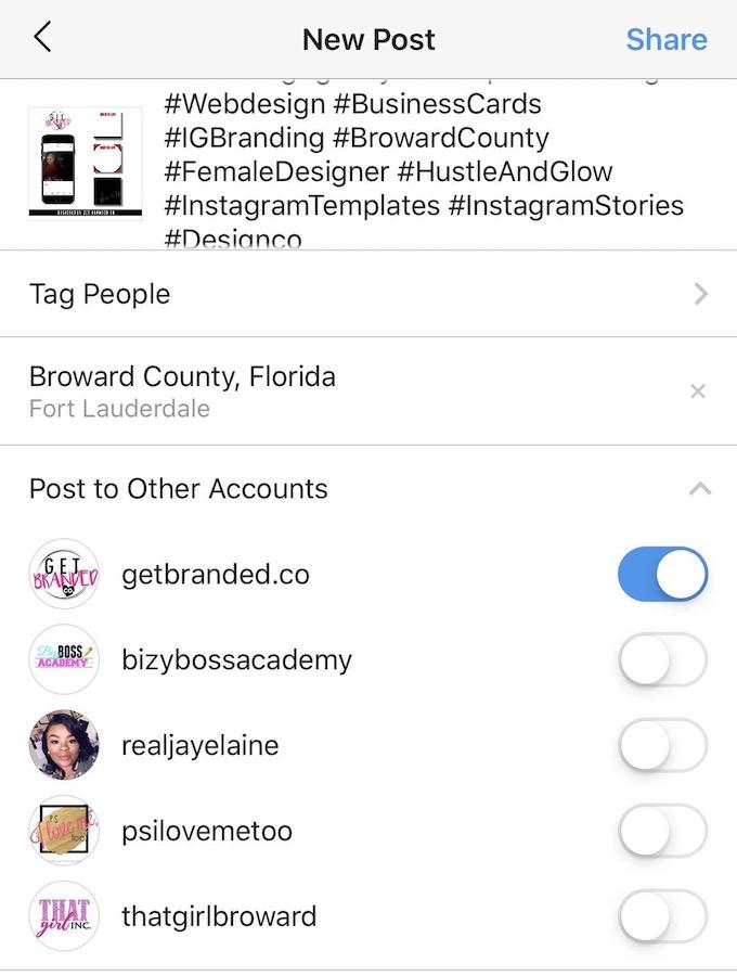 Instagram Publier Sur Plusieurs Comptes