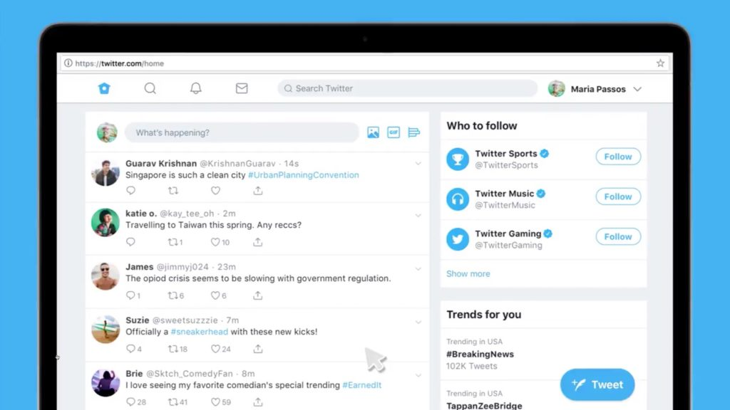 Twitter Nouveau Design 2019 1024x576