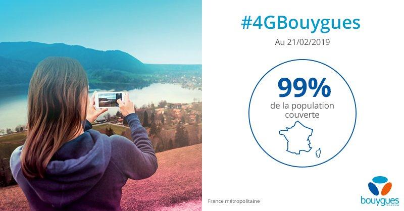 Bouygues Telecom 4G 99 Pour Cent Couverture