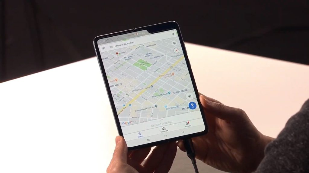 Galaxy Fold Deplie Google Maps 1024x576