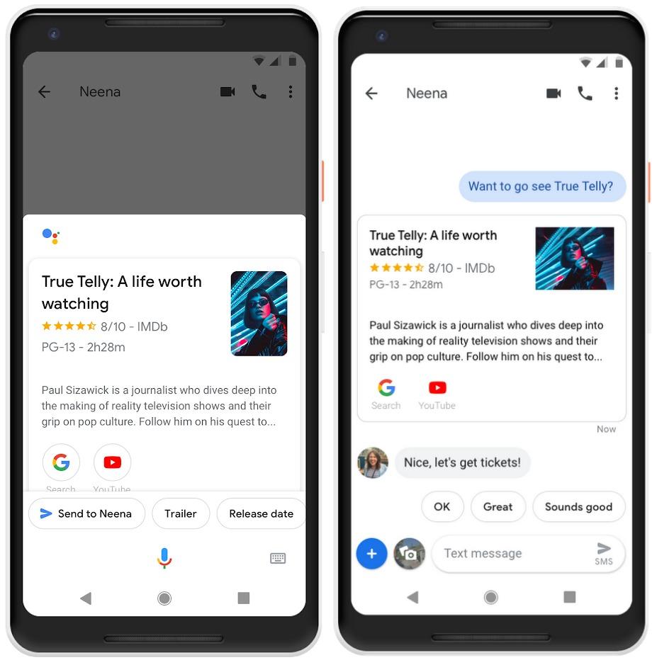 Google Assistant Messages Application