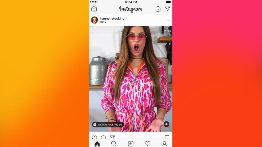 Instagram Apercu IGTV Fil Actualite