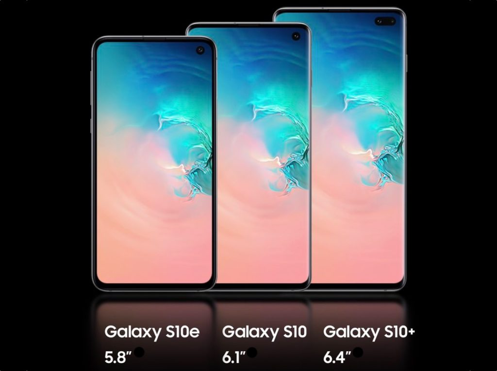 Officiel Galaxy S10 S10e S10 Plus Avant 1024x764