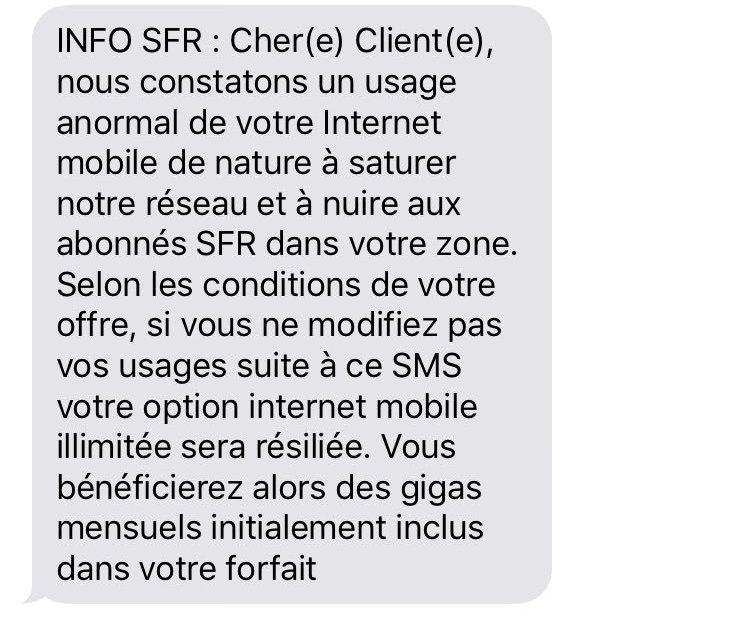 SFR Internet Illimite Pas Vraiment Illimite
