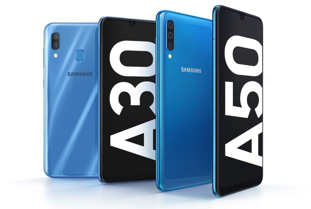 Samsung Galaxy A30 Galaxy A50 1024x690