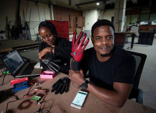 gant haptique langage des signes