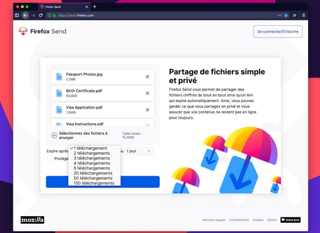 Firefox Send 1024x745
