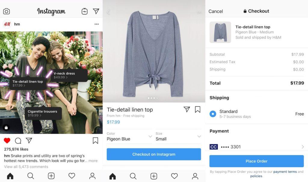 Instagram Achat Produits Sans Quitter Application 1024x607