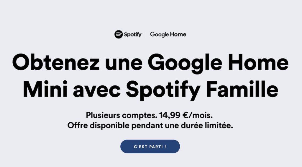 Spotify Famille Google Home Mini Gratuit 1024x565