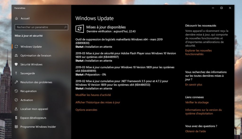 Windows 10 Windows Update Mise A Jour 1024x588