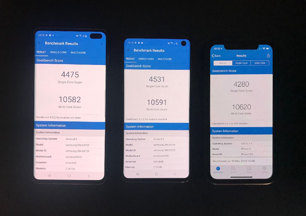 Benchmark S10 Vs Iphone X