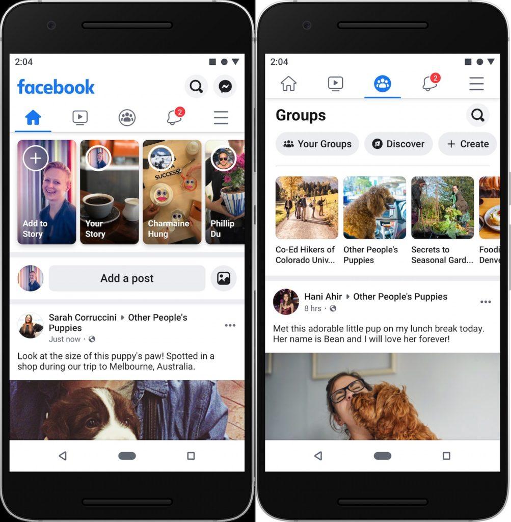 Facebook Application Nouveau Design 2019 1003x1024
