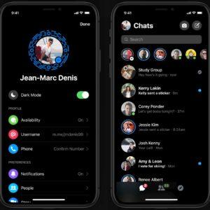 Facebook Messenger : le mode sombre est (réellement) disponible pour tout le monde maintenant