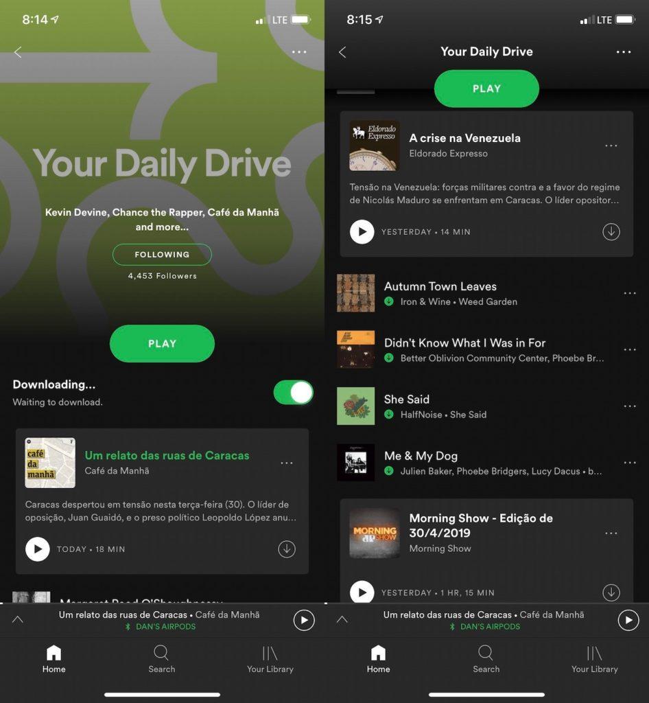 Spotify Podcasts Playlist 946x1024
