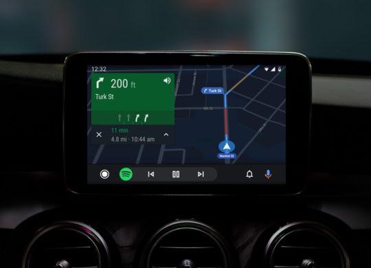Android Auto Nouveau Design Sombre