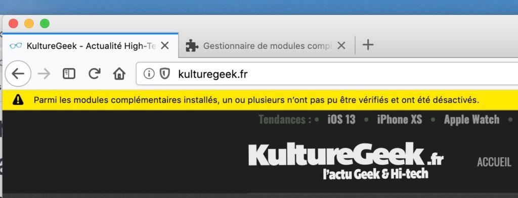 Firefox Certificat Expire Extensions Desactivees 1024x393