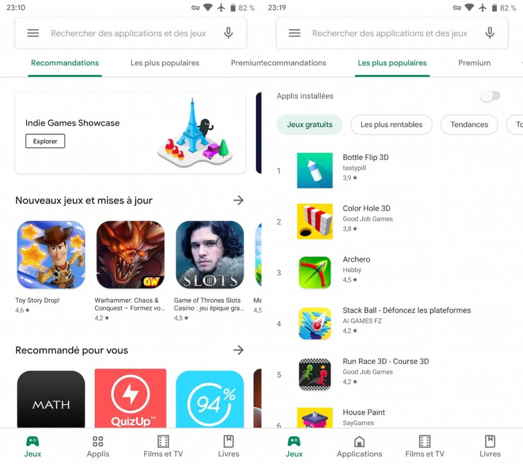 Google Play Store Nouveau Design Mai 2019 3 1024x910