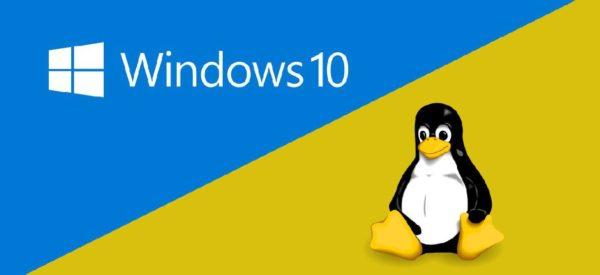 Windows 10 Linux 600x275