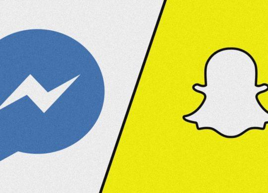 Facebook Messenger Snapchat Logos